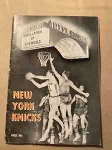 NBA New York Knicks 1956-57 Press Guide Media Guide Yearbook