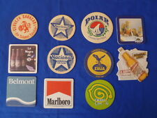 VINTAGE AND PRESENT COASTER BEER AND TABACO