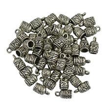 50pcs End Spacer Metal Bead Caps Necklace Bracelet Earrings Jewelry Findings