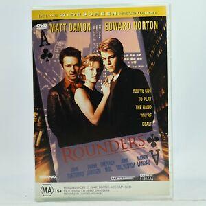 Rounders Matt Damon Edward Norton DVD Good Condition Free Tracked Post