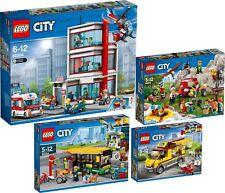 LEGO City 60204 60202 60154 60150 Krankenhaus Stadtbewohner Busbahnhof N8/18