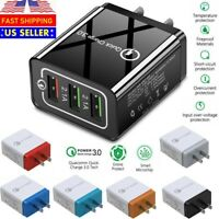 3 Port USB Home Wall Fast Charger QC 3.0 for Cell Phone iPhone Samsung Android