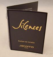 NEW SILENCES By Jacomo For Women Parfum De Toilette Sample Vial Vintage RARE
