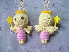 Fairy Earrings Kawaii Zombie Novelty Jewelry Funky Mini Figure Voodoo Doll Angel