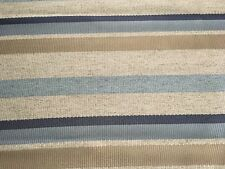 Kravet Striped Heavy Upholstery Fabric- Kochi Linen / Seascape 3.50 yd 32850-516