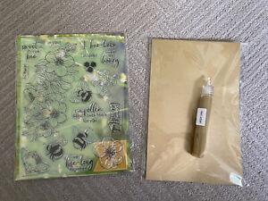 Hero Arts My Monthly Hero Jan 2021 Kit Stamps Dies Bees Flowers Honeycomb Spring
