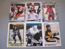 P44 Lot of 25 Different Mark Recchi Upper Deck Topps Finest Flyers Penguins