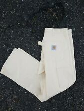 Vintage Carhartt White Canvas Painters Pants Made In Usa 30x30 New Without Tags