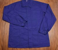 Vtg French EU Worker CHORE Work Shirt Jacket - Sz Large #27 GRADE A VTG