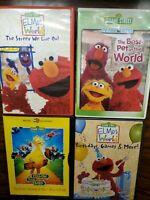 Sesame Street DVD Lot Of 4 Elmos World Birthdays Pets