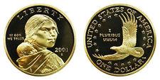 2001 S GEM BU Proof Sacagawea Golden Dollar Brilliant Uncirculated DCAM COIN PF
