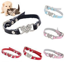 PET DOG CATS PUPPY RHINESTONE HEART ADJUSTABLE COLLAR NECKLACE NECK STRAP SMART