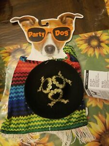 Party Dog - Poncho with sombrero - XS/S - Small - New