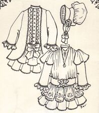 """Sewing Clothes dress Pattern fits 13 14"""" Little Darling Kish Betsy dolls 966"""