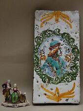 ANTICA PLACCA maiolica ceramica COPPO MATTONELLA PIATTO 1800 XIX DERUTA CASTELLI