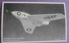 Northrop X4 US Air Force USAF Military Aircraft Postcard