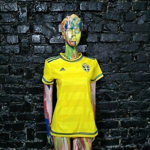 Sweden Team Jersey Home football shirt 2015 - 2016 Adidas S00856 Woman Size S