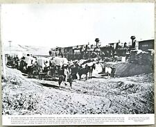 """Vintage 11x14 Photo """"Building the First Transcontinental Railroad"""" Work Trains"""