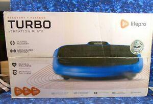 Life Pro Turbo 3D Vibration Plate Exercise Machine Blue New
