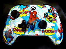 CUSTOM HYDRO DIPPED SPIDERMAN XBOX ONE S  WIRELESS CONTROLLER WITH 3.5mm JACK