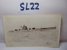 VINTAGE 1920'S US NAVY PICTURE POSTCARD SUBMARINE SUB V-4 MINE LAYING OPEN WATER