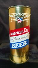 AMERICAN DRY EXTRA PREMIUM LAGER BEER - MID 1950'S 16OZ HALF QUART FLAT TOP CAN