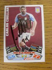 """2011/2012 AUTOGRAFO: Aston Villa-parto, CARLOS [firmato a mano """"TOPPS MATCH ATT"""