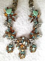 """Joan Rivers Crystal Melange 18"""" Statement Necklace With 3"""" Extender Box & Pouch"""