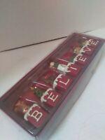 St. Nicholas Square BELIEVE Block Set In Box 7 Pcs Christmas Santa Reindeer Snow