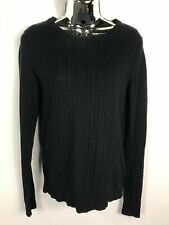 WOMENS SUPERDRY PREMIUM NAVY BLUE KNITTED JUMPER SWEATER PULL OVER SIZE SMALL S