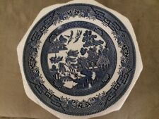 "Churchill Blue Willow Salad Plate Diameter 8"" Made in England. Never used"
