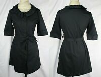 Anthropologie Black Shirt Dress By Little Yellow Button Size M