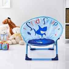 Childrens Folding Moon Chair Fold Up Seat Kids Seating Bedroom 54 x 47cm - Shark