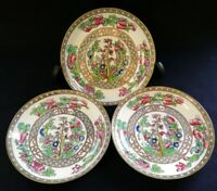 3 Vintage c.1930 Coalport Indian Tree Smooth Rimmed Saucers | FREE Delivery UK*