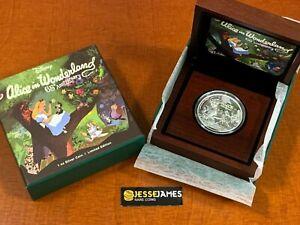 2016 $2 NIUE PROOF SILVER ALICE IN WONDERLAND IN ORIGINAL MINT BOX W/COA 1 OZ