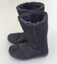 Ladies Genuine Sheepskin Black Boots 6 39 Warm Fur Lined Mid Calf Winter Comfort