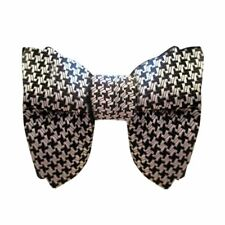 Mens Oversized Bow Tie - Houndstooth Bowtie,  bow tie,