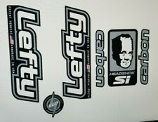 Sticker Decal Set for Old Style Cannondale Lefty ELO Carbon- White and Chrome