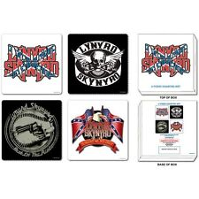 LYNYRD SKYNYRD - 4 coaster gift set - 4 different designs  - boxed  free UK P&P