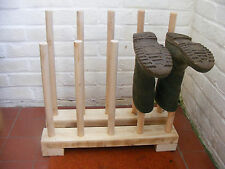 WELLY RACK,WELLIE STORAGE,SOLID WOODEN WELLINGTON BOOT STAND 5 PAIRS.
