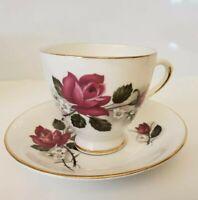 Vintage Royal Dover Bone China Tea Cup And Saucer