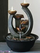 Multifunction Indoor Water Fountain & Candle Holders With LED Lights