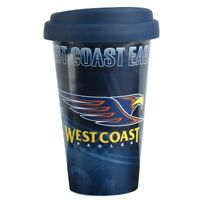 120652 WEST COAST EAGLES AFL CERAMIC TAKE AWAY LATTE TRAVEL COFFEE MUG CUP