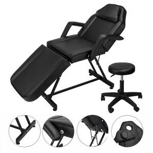 """72"""" Portable Massage Table Chair Tattoo Parlor Spa Salon Facial Bed With Stool"""
