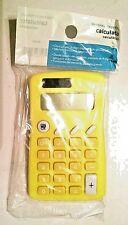 Handheld Dual Power 8 Digit Display Calculator w/Memory Function Auto Off Yellow