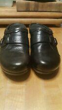 Dansko Women's Black Leather Slip On Casual Mules Shoes Size 40 M