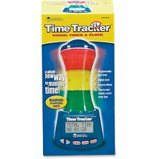 "Learning Resources Time Tracker Visual Timer/Clock 9"" Multi Ler6900"