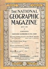 1926 National Geographic July-Jaipur India Sikhs and Hindus; Icebergs;Waterfalls