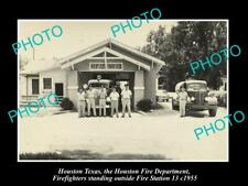 OLD 8x6 HISTORIC PHOTO OF HOUSTON TEXAS THE FIRE DEPARTMENT STATION No13 1955