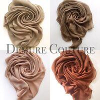 Plain Hijab Scarf Maxi Viscose/Rayon Shawl Cape Sarong Wrap